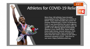 Athletes for COVID-19 Relief PPT